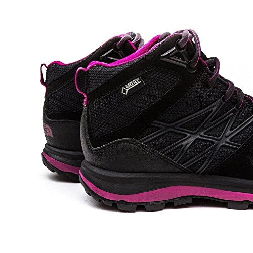 The North Face W Litewave Mid Gtx, Botas de Senderismo para Mujer Gris / Morado