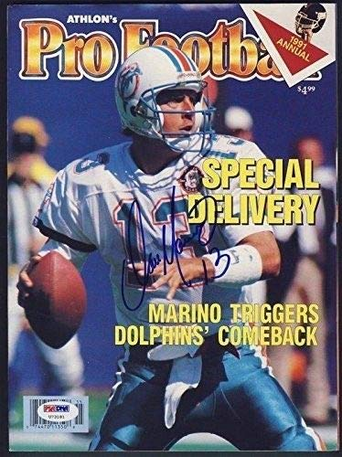 (Dan Marino Signed/Autographed 1991 Athlon's Pro Football PSA/DNA u73181)