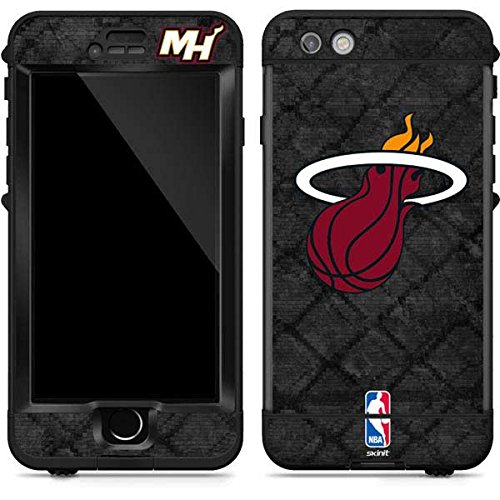 Skinit Miami Heat Dark Rust LifeProof Nuud iPhone 6s Plus Skin for CASE - Officially Licensed NBA Skin for Popular Cases Decal - Ultra Thin, Lightweight Vinyl Decal Protection