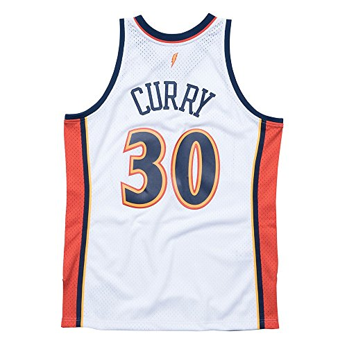 Stephen Curry Golden State Warriors Mitchell & Ness NBA Throwback Jersey White (Medium)