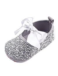 Newborn Baby Bow Diamonds Bling Mary Jane Toddler Prewalker Shoes