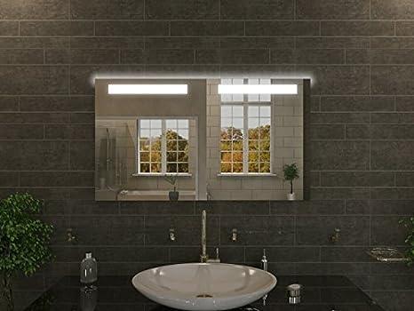 Bagno specchio con illuminazione abea m l design specchio per