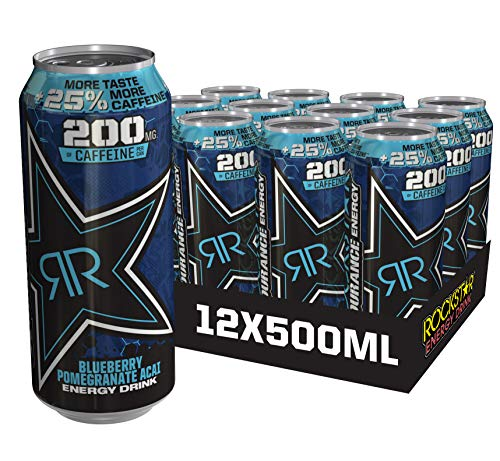 Rockstar Xdurance Energy Drink 25% more caffeine, 500ml, (Pack of 12) – Packaging May Vary