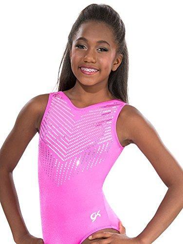 Amazon.com   GK Pink Diamonds Sparkle Gymnastics Leotard  a2da485414d