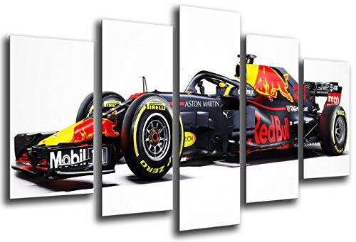 MULTI Wood Printings Art Print Box Framed Picture Wall(Total Size: 65 x 24.4 in),Formula 1 Car, Red Bull RB14, Red Bull F1 2018, Daniel Ricciardo, Max Verstappen-Framed And Ready To Hang-ref. 27112 (Best Formula One Car)