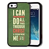 Rugged Rubber 2-layer Hybrid Custom Samsung Galaxy S5 case, protective skin cover for Samsung Galaxy S5 Bible Verse Philippians 4:13 I can do all things through Christ who strengthens me