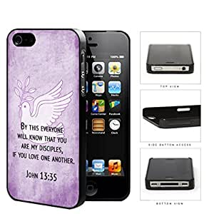 John 13:35 Religious Bible Verse on PURPLE Grunge & White Dove [For Samsung Galaxy S3 I9300 Case Cover ] Hard Plastic Cell Phone Cover