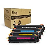V4INK New Compatible HP 510A CF510A CF511A CF512A CF513A Toner Cartridge for HP Color LaserJet Pro M154 MFP M180nw MFP M181 (4 Pack - Black/Cyan/Yellow/Magenta)