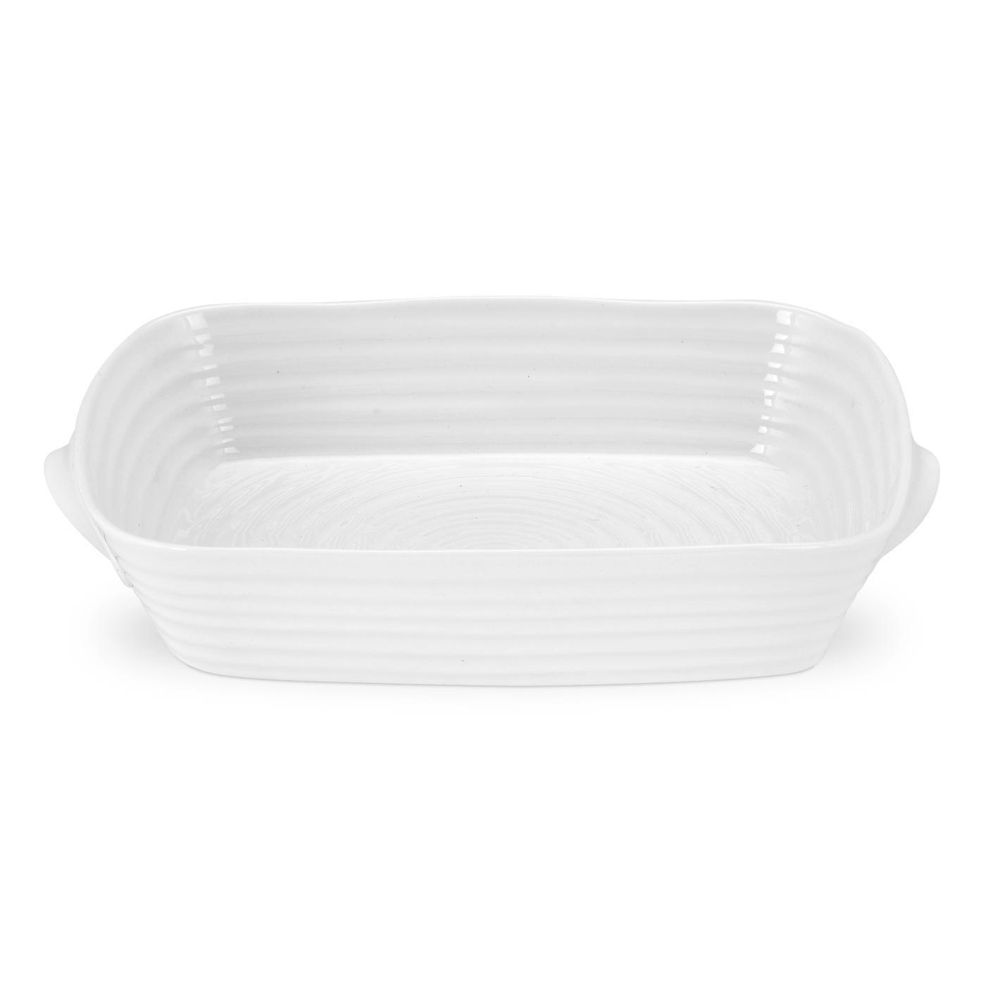 Portmeirion Sophie Conran White Medium Handled Rectangular Roasting Dish Portmeirion USA 543805