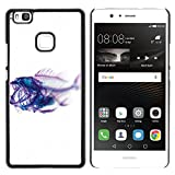 Plastic Shell Protective Case Cover || Huawei P9 Lite / G9 Lite (Not for P9)Huawei P9 Lite / Huawei G9 Lite (Not for P9) || Xray Fish Skeleton Art @XPTECH