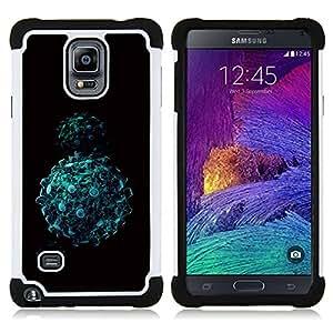 - Abstract Balls - - Doble capa caja de la armadura Defender FOR Samsung Galaxy Note 4 SM-N910 N910 RetroCandy