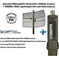 Mikrotik RBMetal9HPn Metal 9HPn 900MHz Outdoor + 900MHz 15dBi Grid Antenna NLOS