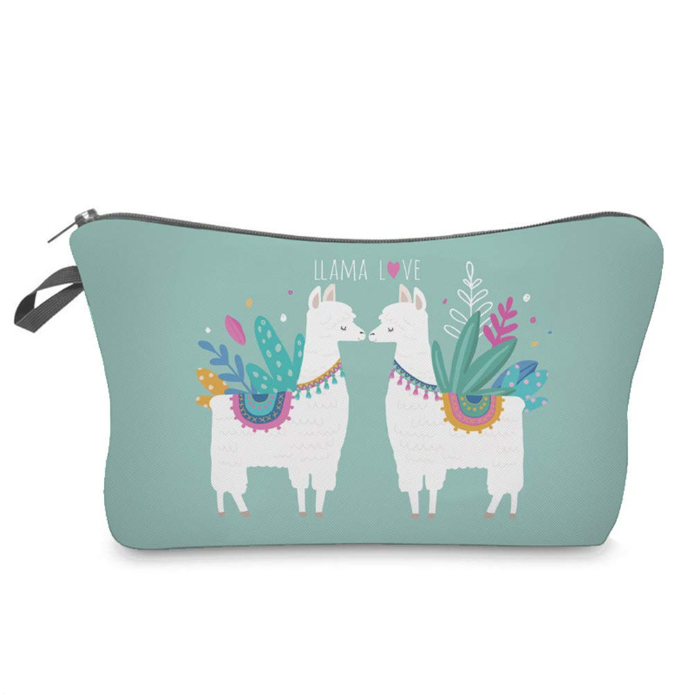 [Perfect Holiday Gift]-Cute Cartoon Llama Printed Zipper Travel Storage Pouch Woman Cosmetic Bag Holder,backpack,handbags for women,shoulder bag for women men,travel backpack