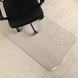 [Upgraded Version] Crystal Clear 1/5″ Thick 47″ x 30″ Heavy Duty Hard Chair Mat, Can be Used on Carpet or Hard Floor