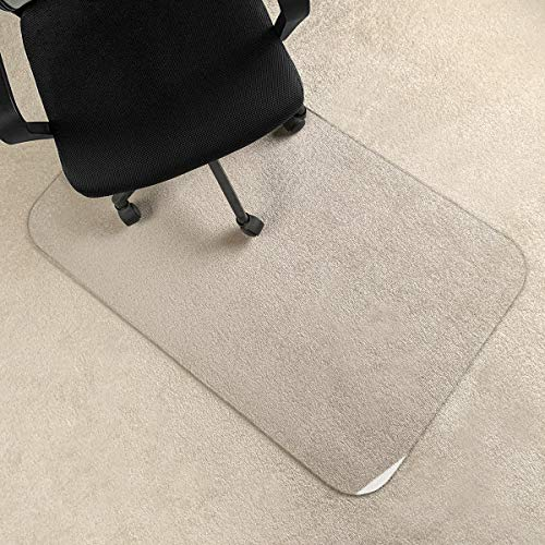 [Upgraded Version] Crystal Clear 1/5 Thick 47 x 30 Heavy Duty Hard Chair Mat, Can be Used on Carpet or Hard Floor