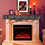 HQQNUO Halloween Decorations Black Lace Spiderweb Fireplace Mantle 18 x 96 inch Scarf Cover Festive Party Supplies for Halloween Christmas Party Door Window Decoration Black