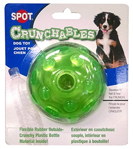 Ethical Products Puppy - Ethical Pets Crunchable Ball Dog Toy, 3.5