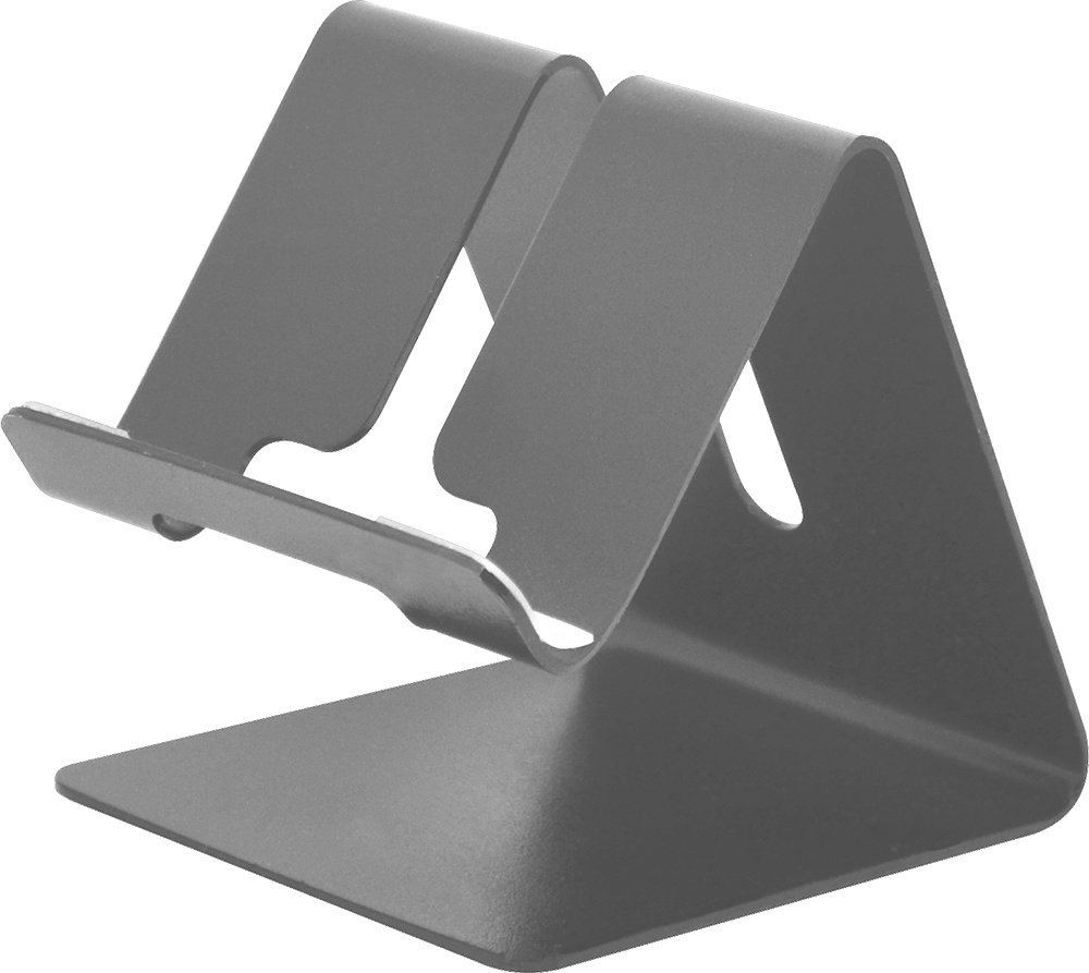 Desktop Cell Phone Stand Tablet Stand, Aluminum Stand Holder for Mobile Phone (All Size) and Tablet (Up to 10.1 inch) (Silver)