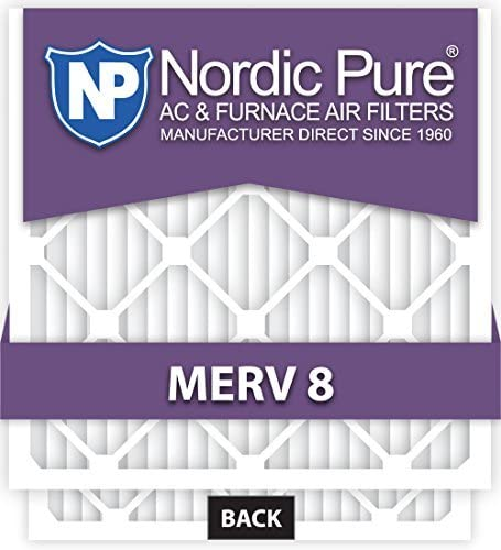 Box of 2 by Nordic Pure Nordic Pure 20x25x4M8-2 MERV 8 Pleated AC Furnace Air Filter 20x25x4