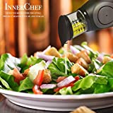 NEW InnerChef Oil and Vinegar 500ML Glass Press and Measure Dispenser - No Drip, Precise Measuring