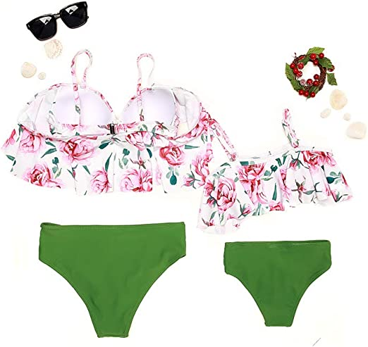 SHOPESSA Womens Lace Up Longline Bikini Top with High Rise Swimsuits Bottoms 2 Piece Ribbed Bathing Suits
