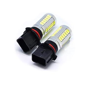 Bombillas LED P13W Xenon Luz de alta potencia diurna DRL COB coche A4 B8 2x: Amazon.es: Coche y moto
