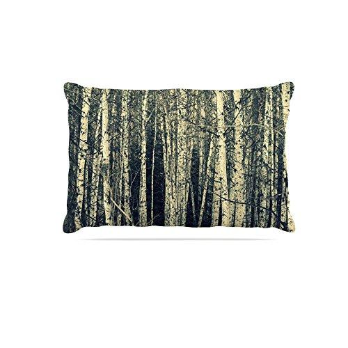 Kess InHouse Robin Dickinson Birch  Fleece Dog Bed, 50 by 60 , Beige Tan