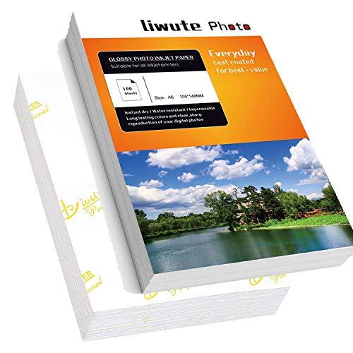 A6 Photo Paper - LIWUTE Premiun Plus Glossy Photo Paper A6 4