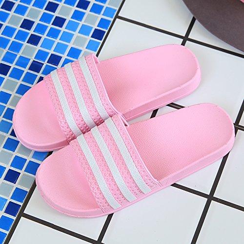 Estancia Zapatillas fankou Hembra Baño Verano Zapatillas y Parejas Suave 37 Home Cool Verano Antideslizante Cubierta Baño 38 Rosa Macho Inferior qnnP0rY1