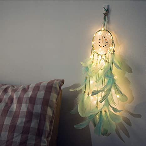Amazon Com Light Up Dream Catchers For Bedroom Wall Hanging