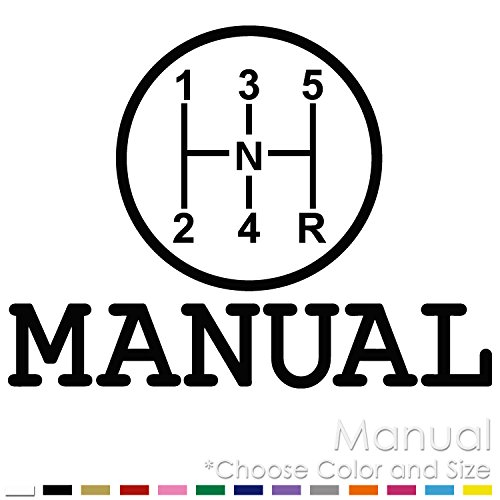 Manuals Transmission Stick Shift Vinyl Decal Sticker (MT-01)