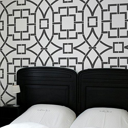 Tea House Trellis Allover Stencil - Beautiful stencils for DIY home decor by Cutting Edge Stencils