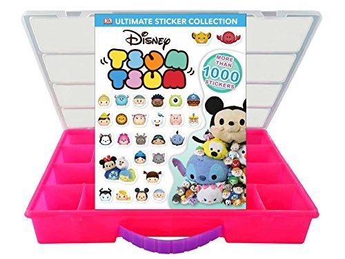 My Sticker And Storage Kits Official Disney Tsum Tsum Sticker Book and Mini Figures Compatible Storage Organizer Stores Up to 60 Mini Figures