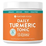Cheap Daily Turmeric Tonic: Organic Turmeric + 7 Superfood & Adaptogen Antioxidant Golden Milk Blend; Makes a Perfect Turmeric Tea & Latte, Sugar-Free, Non-GMO, Vegan (2.12 oz.)
