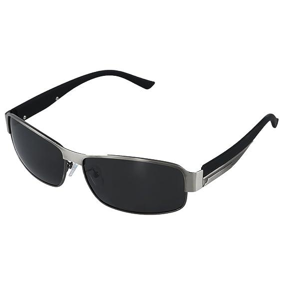 SODIAL(R)Moda Conduccion Gafas Polarizadas Hombres Gafas de Sol Exterior Deportes Anteojos Gafas