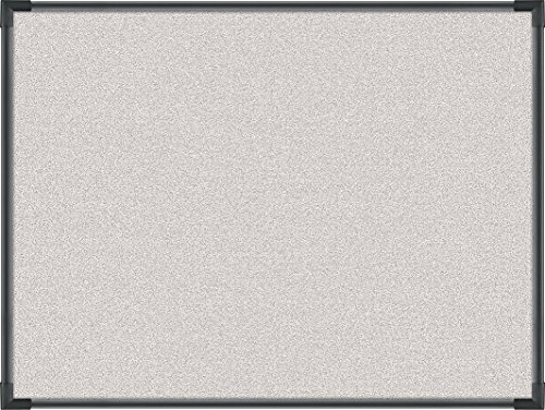 Best-Rite Pebbles Vinyl Tackboard, Ultra Trim, Black, 3 x 4 Feet, Light Quarry Vinyl (3118C-67) by Balt