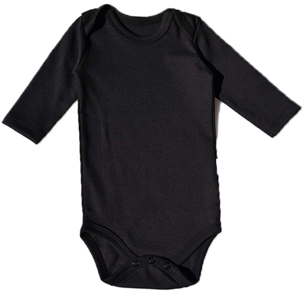Toddler 100/% Cotton Bodysuits for Infant Unisex Boys Girls hibshaby Baby Bodysuit Long Sleeve