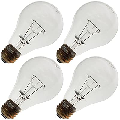 Industrial Performance 150A21KTSR3 120-125V, 150 Watt, A21, Medium Screw (E26) Base Light Bulb (4 Bulbs)
