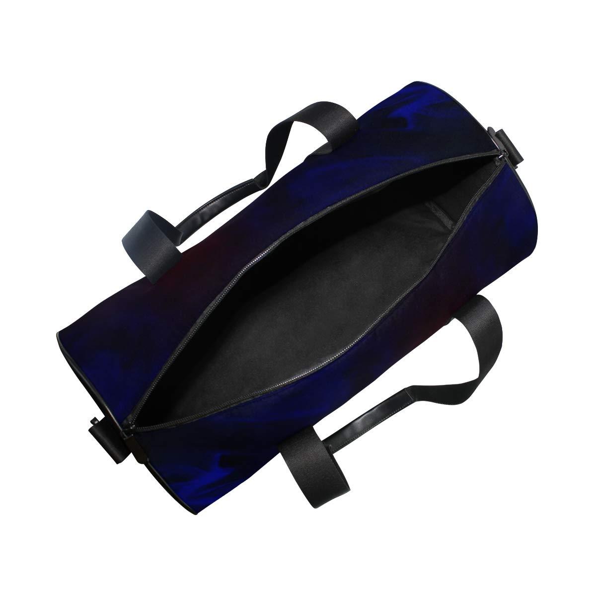non-slip wearable handbag crossbody bag suitable for men and women. Blue Red MarblePopular casual fitness bag sports bag