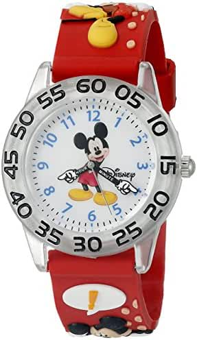 Disney Infinity Kids' W002459 Mickey Mouse Analog Display Analog Quartz Red Watch