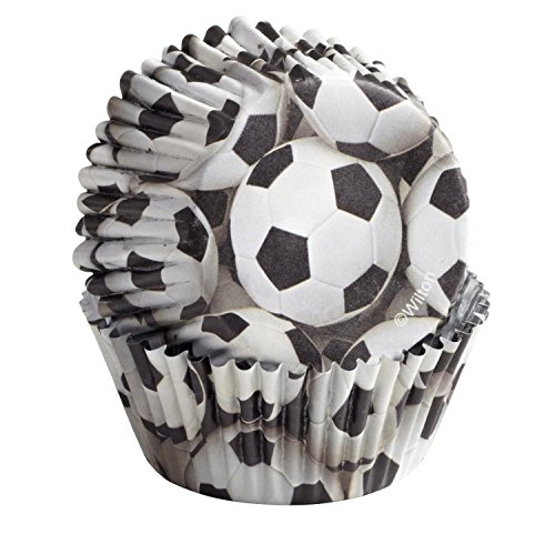 Wilton Soccer Party Baking Color Cups; 36 Pack; Candy Cupcake Cake Muffin Liners