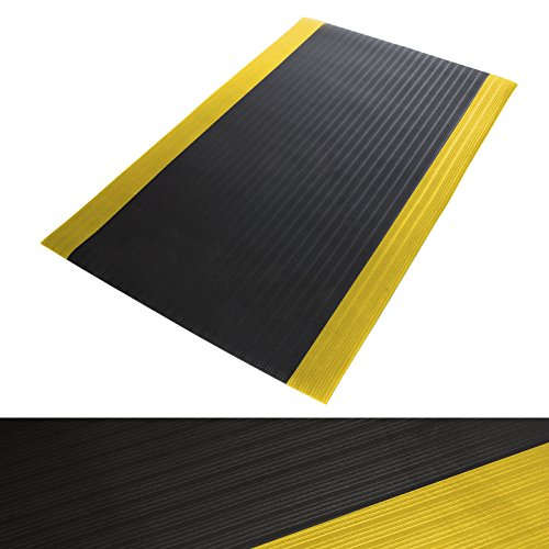 Anti Ermüdungsmatte Softer-Work-Mat   Arbeitsmatte   schwarz-gelb   mit Warnstreifen   90x150 cm