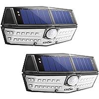LITOM 30 LED Solar Lights Outdoor,Waterproof Sensor Lights