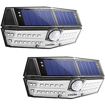 Litom Solar Lights Outdoor 54 Led Super Bright 270 176 Wide