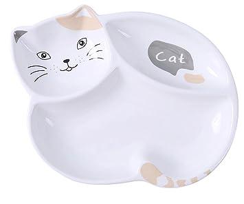 Cerámica Forma de Gato plato llano condimento platos de ...