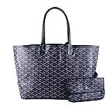 Stylesty Designer Shopping PU Tote Bag Set, Fashion Women Shoulder Handbags with Key Ring (Medium, New Blue)