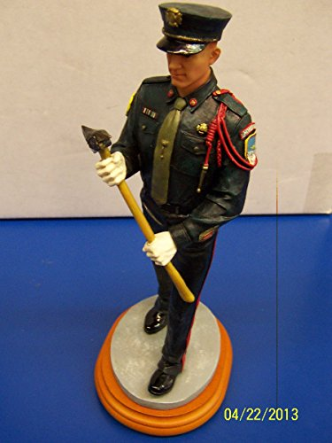 Vanmark Fireman Marching Firefighter Fire Red Hats of Courage Collectible Figurine Hand Crafted Limited Edition