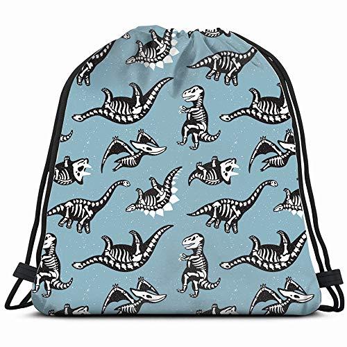 Cute Cartoon Silhouettes Dinosaurs Background Drawstring Backpack Bag Sackpack Gym Sack Sport Beach Daypack For Girls Men & Women Teen Dance Bag Cycling Hiking Team Training]()