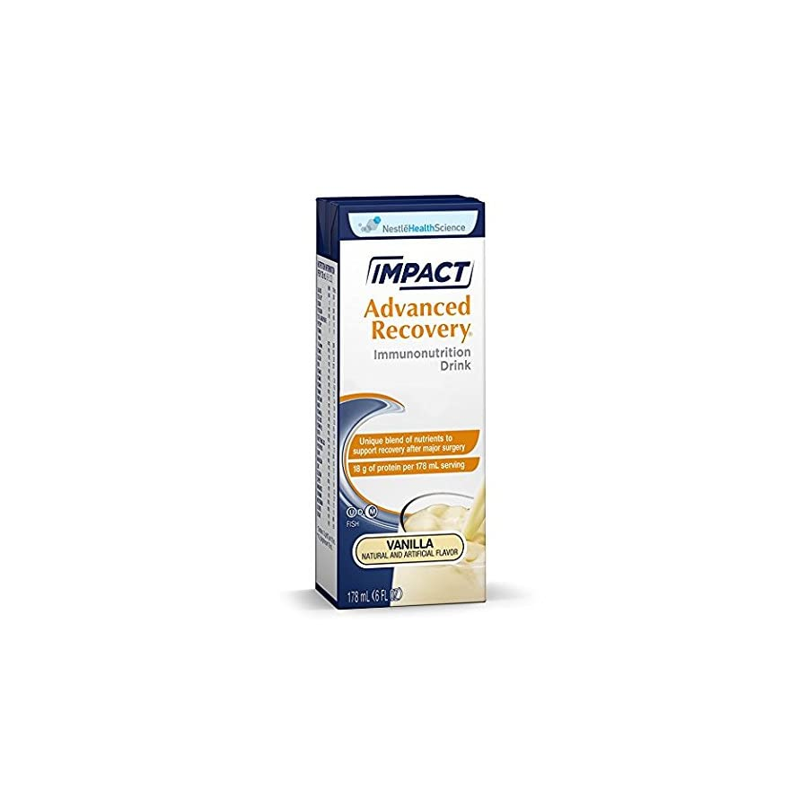 Impact Advanced Recovery Immunonutrition Drink, Vanilla, 6 fl oz box, 15 Pack