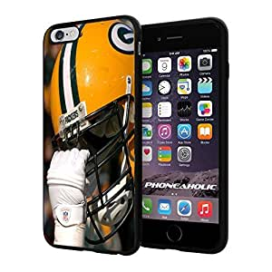 "NFL Green Bay Packers Helmet, Cool iPhone 6 Plus (6+ , 5.5"") Smartphone Case Cover Collector iphone TPU Rubber Case Black"